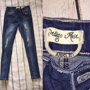 Indigo Rein distressed skinny jeans size girls 10